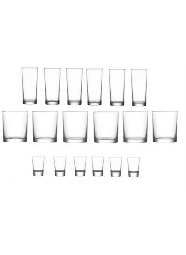 Lav Rakı Viski Shot Bardağı Takımı 18 Prç. Bardak Seti Renkli